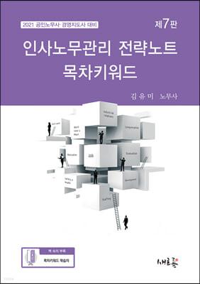 2021 인사노무관리 전략노트 목차키워드