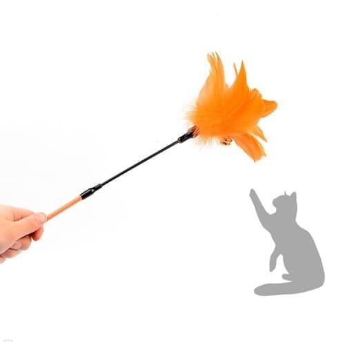 고양이 스틱 딸랑이장난감 1개(색상랜덤)