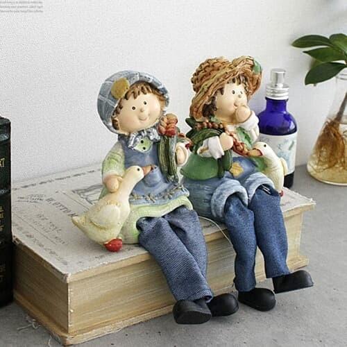 [2HOT] 앉은 오리 커플 2종 (KJ0603)