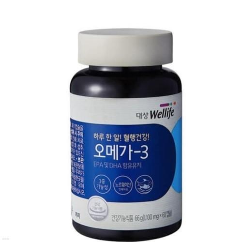 [대상웰라이프] 하루한알! 혈행건강! 오메가3 (1,000mg*60캡슐)