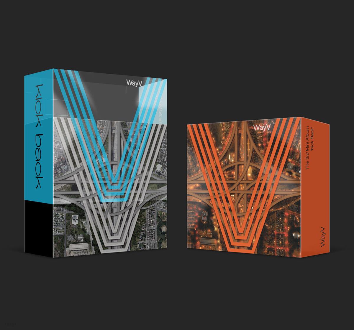 웨이션V (WayV) - 미니앨범 3집 : 'Kick Back' [스마트 뮤직 앨범(키트 앨범)] (2종 중 랜덤발송)