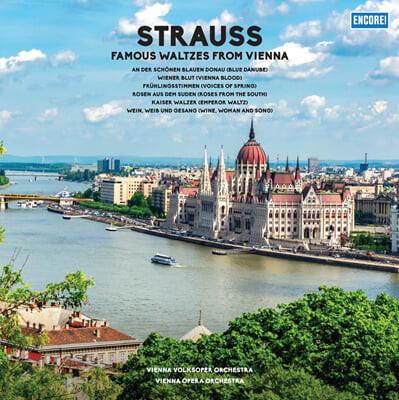 Wiener Staatsoper Orchestra 슈트라우스: 유명 왈츠 모음 (R.Strauss: Blue Danube, Voices of Spring) LP]