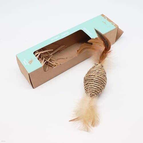 고양이를 위해 해초로 만든 장난감 타래-솔방울