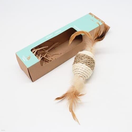 고양이를 위해 해초로 만든 장난감 타래-팽이