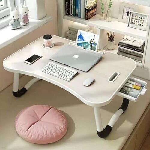 서랍형 다용도 접이식 테이블 노트북 컵홀더 좌식 베드 트레이 미니 보조책상