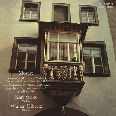 Karl Suske 모차르트: 바이올린 소나타 작품 전곡 1집 (Mozart: Violin Sonatas K.481, K.547) [LP]
