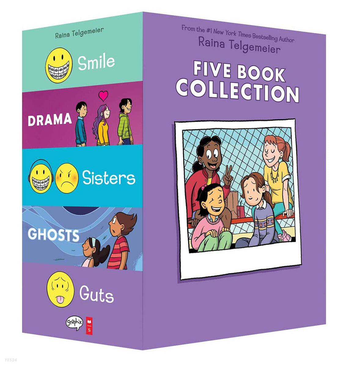 레이나 텔게마이어 페이퍼백 원서 5종 세트 Raina Telgemeier Collection Box Set (5 Books)