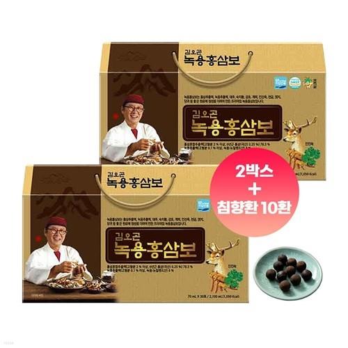 김오곤 녹용홍삼보 국내산 6년근 60포 (침향환10환증정)