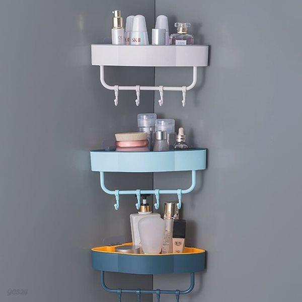 [ABC생활] 무타공 다용도 투톤 욕실 주방 코너선반