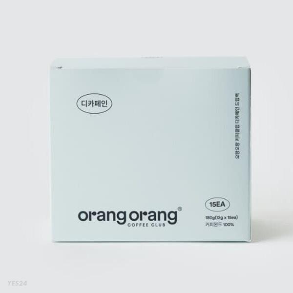 오랑오랑 커피클럽 디카페인 드립백 OrangOrang Decaffeinated Coffee Drip Bag (15개)