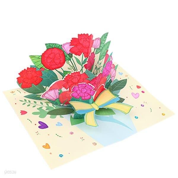 카네이션 꽃다발 팝업카드 감사DIY 어버이날