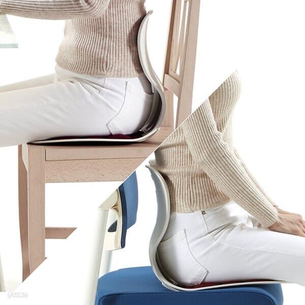 0 콤비체어 바른 자세 교정 등받이 좌식 허리 의자