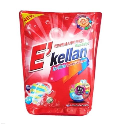 공장직영 엑켈란 항균 가루세제 3kg 1개 찌꺼기N...
