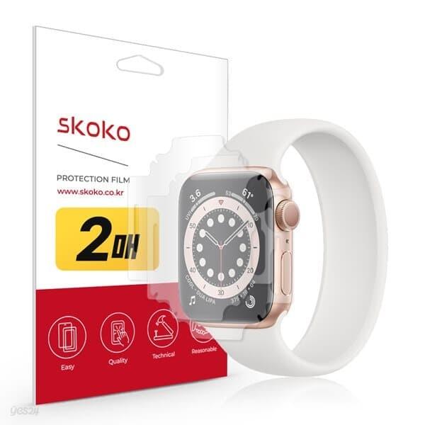 스코코 애플워치SE 40mm 풀라운드 액정보호필름 2매