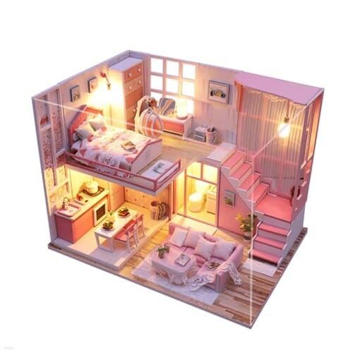 DIY 미니어처 하우스 - 핑크로즈 로프트