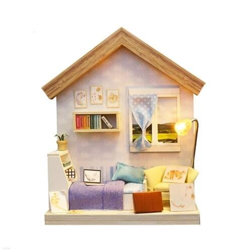 DIY 미니어처 풀하우스 - 퍼플 2층 하우스