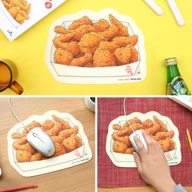 오무라이스 잼잼 치킨 마우스패드