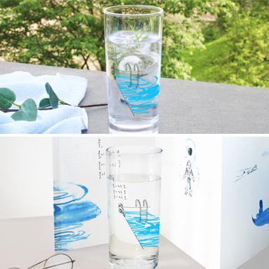 〈물이 되는 꿈〉 유리컵-사은품 이미지