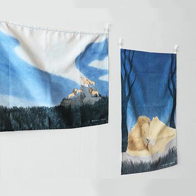 푸른사자 와니니 패브릭포스터
