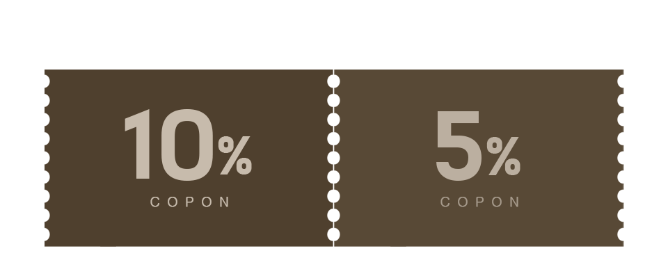 10% 할인 + 5% 적립 쿠폰받기