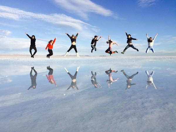 볼리비아 소금 사막에서 재미있는 사진.JPG