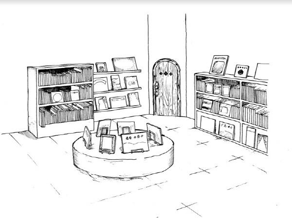 중간에 보이는 낡은 목재 문이 비밀의 작은 방이다.jpg