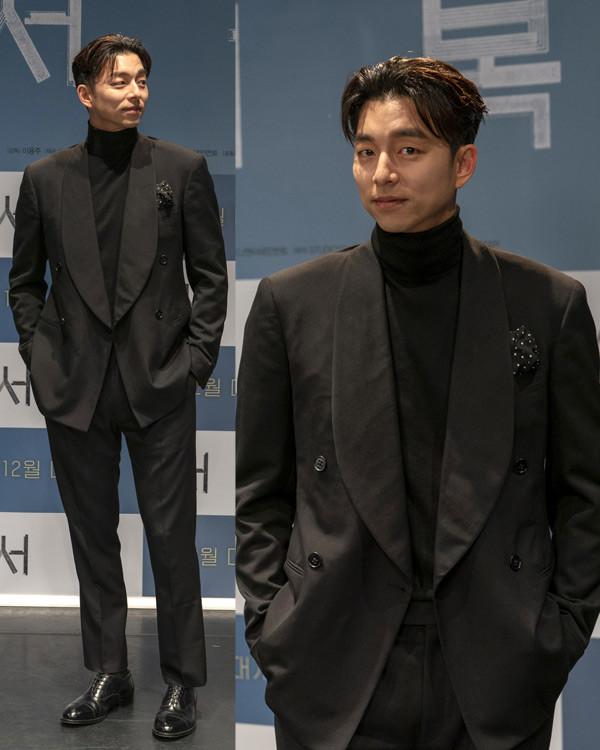 [스타 패션] 공유, 블랙 슈트만 입어도 '모델이야? 화보야?'
