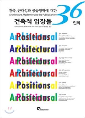 건축, 공공영역에 대한 건축적 입장들