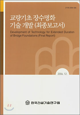 교량기초 장수명화 기술 개발(최종보고서)