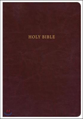 KJV Super Giant Print Reference Bible, Classic Burgundy Leathertouch, Indexed