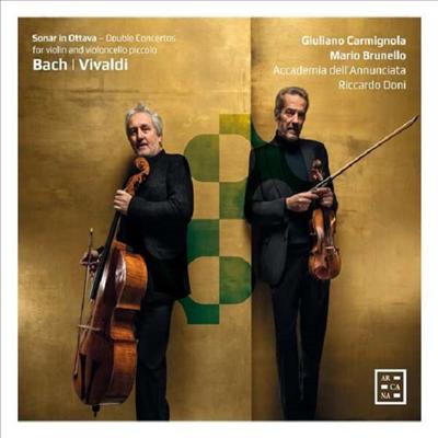 비발디 & 바흐: 첼로와 바이올린을 위한 협주곡 (Vivaldi & Bach: Concertos for Cello & Violin)(Digipack) - Giuliano Carmignola Mario Brunello