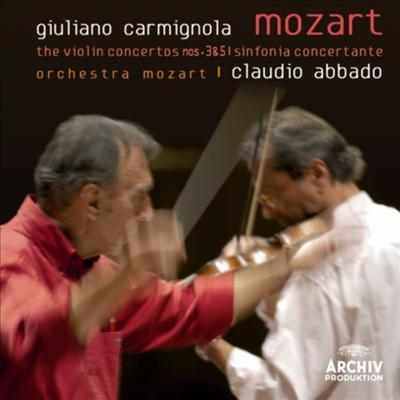 모차르트: 바이올린 협주곡 3, 5번, 신포니아 콘체르탄테 (Mozart: Violin Concertos Nos.3 & 5. Sinfonia Concertante) (Ltd. Ed)(일본반) - Giuliano Carmignola