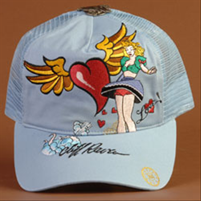 Cliff Raven - Cliff Raven Pinup Girl Light Blue Premium Cap