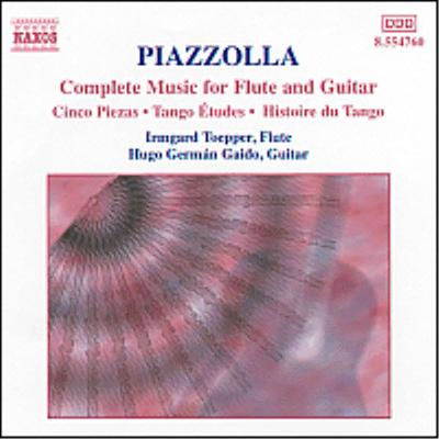 피아졸라 : 플루트와 기타 작품 전집 (Piazzolla : Complete Music For Flute And Guitar) - Hugo German Gaido