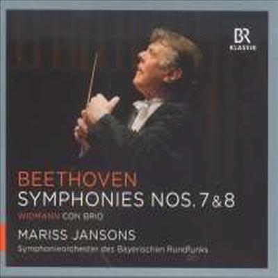 베토벤: 교향곡 7, 8번, 비드만: 연주회용 서곡 '콘브리오' (Beethoven: Symphony No.7 & 8, Widman: Concert Overture 'Con brio')(CD) - Mariss Jansons