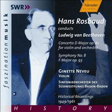 베토벤 : 바이올린 협주곡, 교향곡 8번 (Beethoven : Violin Concerto Op.61, - Hans Rosbaud