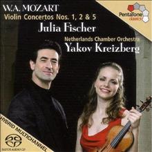모차르트 : 바이올린 협주곡 1, 2, 5번 (Mozart : Violin Concertos No.1 K.207, No.2 K.211, No.5 K.219 'Tukish') (SACD Hybrid) - Julia Fischer