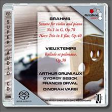 브람스 : 바이올린 소나타 1번, 혼 삼중주, 비외탕 : 발라드와 폴로네이즈 (Brahms : Violin Sonata No.1 Op.78, Horn Trio Op.40, Vieuxtemps : Ballade & polonaise Op.38) (SACD Hybrid) - Arthur Grumiaux