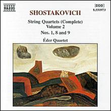 쇼스타코비치 : 현악 사중주 1, 8 '드레스덴', 9번 (Shostakovich : String Quartets Vol.2 - No.1 Op.49, No.8 Op.110 'Dresden', No.9 Op.117) - Eder Quartet