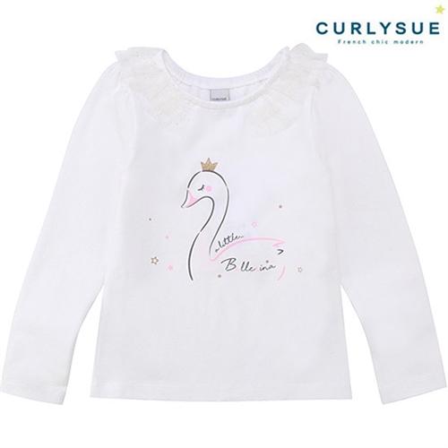 [컬리수] 러블리스완 티셔츠 CMS1XATS42IV [봄]