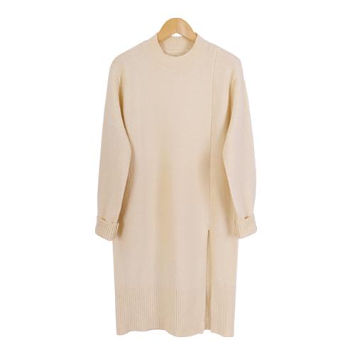 [드레스날다] 반목 절개 트임 롱 니트(knit359)