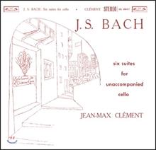 Jean-Max Clement 바흐: 무반주 첼로 모음곡 전곡집 (J.S. Bach: 6 Cello Suites For Unaccompanied Cello) 장-막스 클레망 [2 LP]