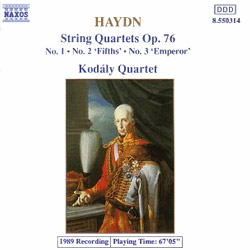 Kodaly Quartet 하이든: 현악 사중주 (Haydn: String Quartet Op.76 Nos.1, 2, 3)