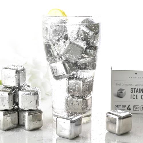 브리니클(Brinicle) 녹지 않는 얼음 스테인레스 아이스큐브 4개 셋트