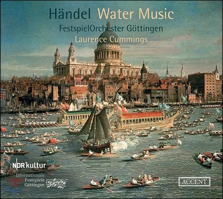 Laurence Cummings 헨델: 수상음악, 합주 협주곡 [콘체르토 그로소] - 괴팅겐 페스티벌 오케스트라, 로렌스 커밍스 (Handel: Water Music HWV348-350, Concerto Grosso HWV318)