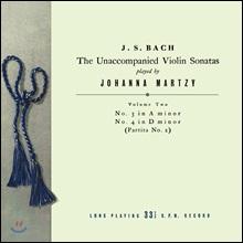 요한나 마르치 - 바흐: 무반주 바이올린 소나타 & 파르티타 2집 BWV1003 & 1004 (Johanna Martzy - J.S. Bach: The Unaccompanied Violin Sonatas Volume Two) [LP]