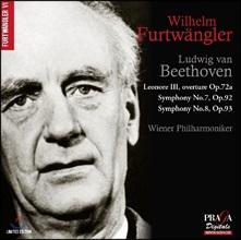 Wilhelm Furtwangler 베토벤: 레오노레 서곡 3번, 교향곡 7 & 8번 - 빌헬름 푸르트뱅글러, 빈 필하모닉 (Beethoven: Leonore Op.72a, Symphonies Op.92 & Op93)