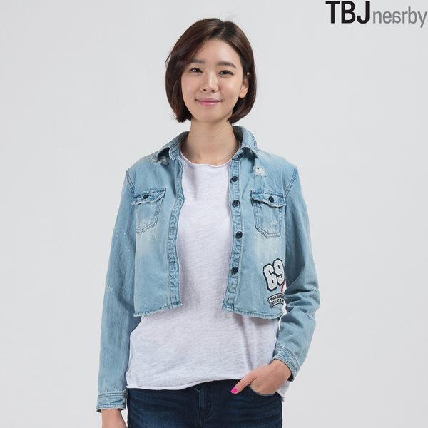 [TBJ]여성 숏기장 데님 셔츠 BL (T155DS611P)