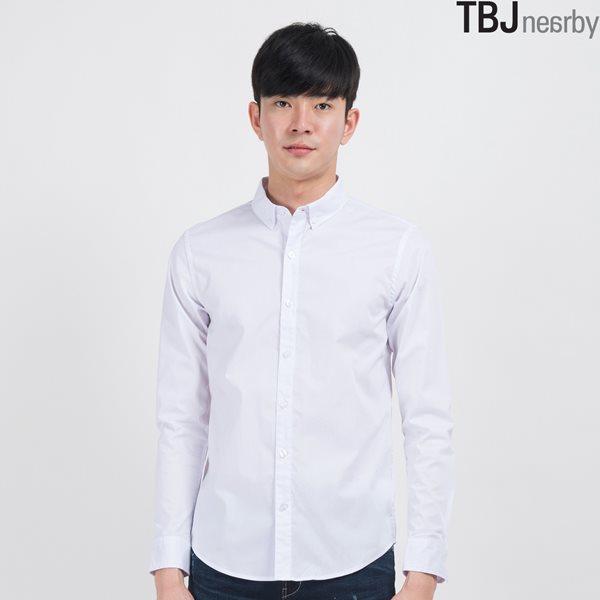 [TBJ]남성 면스판 솔리드 셔츠 WT (T155SH050P)