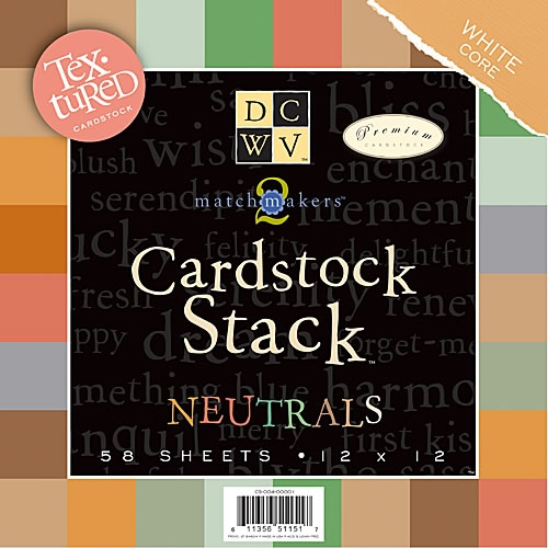 [DCWV/스크랩북킹_배경지]CS-004-00001/MatchMaker Neutrals Textured Cardstock Stack/핸드메이드,DIY작업용,페이퍼